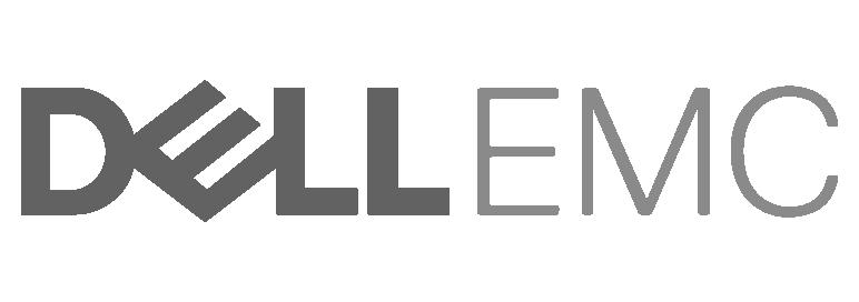 Dell EMC em preto e branco