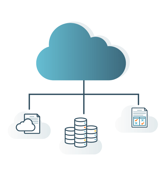 Nuvem compartilhando arquivos